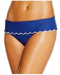 Jessica Simpson | Blue Seersucker Foldover Bikini Brief Bottom | Lyst