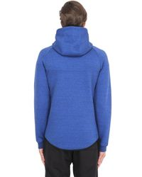 Nike | Blue Zip-up Cotton Blend Sweatshirt | Lyst