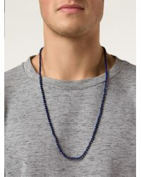Joseph Brooks | Blue Beaded Necklace for Men | Lyst