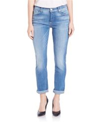 7 For All Mankind | Josefina Boyfriend Jeans - Blue | Lyst