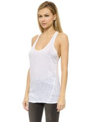 David Lerner - White Wedge Tank Top - Nude - Lyst