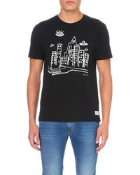 Paul Smith | Black Ufo-print Cotton-jersey T-shirt for Men | Lyst