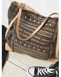 Free People | Black Everhart Tote | Lyst