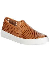 Michael Kors - Brown Michael Olivia Slip-On Sneakers - Lyst