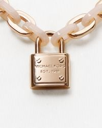 Michael Kors | Pink Padlock Toggle Necklace, 18"