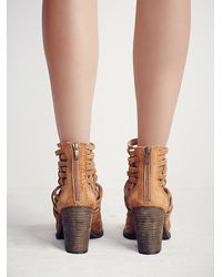 Free People - Brown Carrera Heel Boot - Lyst