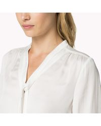 Tommy Hilfiger - White Long Sleeve Blouse - Lyst