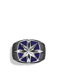 David Yurman - Metallic Maritime North Star Signet Ring With Lapis Lazuli for Men - Lyst