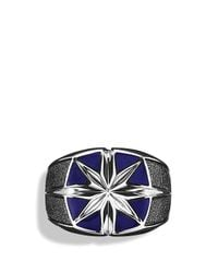 David Yurman | Metallic Maritime North Star Signet Ring With Lapis Lazuli for Men | Lyst