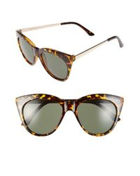 A.J. Morgan | Brown 'sheridan' 52mm Cat Eye Sunglasses | Lyst