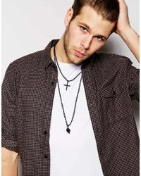 ASOS | Black Cross And Skull Necklace Pack for Men | Lyst