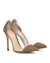 Gianvito Rossi - Metallic Plexi Overlay Leather Pumps - Lyst