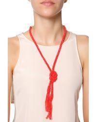 Oscar de la Renta - Pink Tassel Necklace - Lyst