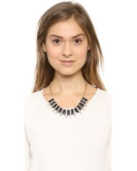Adia Kibur - Triangle Short Necklace - Black/Gold - Lyst