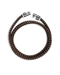 David Yurman - Brown Chevron Triple-wrap Bracelet for Men - Lyst