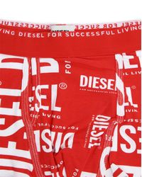 DIESEL | Red Semaji Boxer Briefs for Men | Lyst