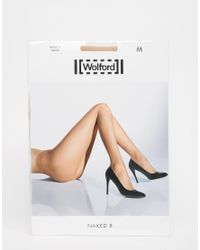 Wolford - Natural Naked 8 Denier Tights - Lyst