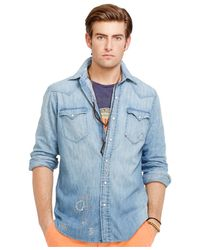 Polo Ralph Lauren - Blue Indigo Western Shirt for Men - Lyst