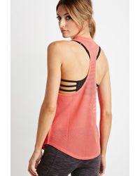 Forever 21 | Pink Active Mesh-back Pocket Tank | Lyst