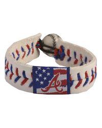 Game Wear - Blue Atlanta Braves Stars And Stripes Bracelet - Lyst