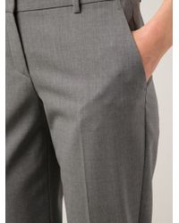 Theory | Gray Tailored Trousers | Lyst