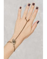 Nasty Gal | Metallic Bud Out Rosette Hand Piece | Lyst