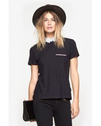 Band of Outsiders - Blue Top W/Shirt Collar - Lyst