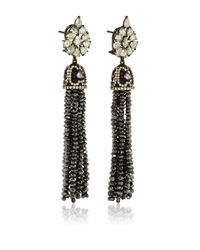 Sutra | Black Diamond Bead Chandelier Earrings | Lyst