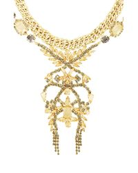 BCBGMAXAZRIA | Black Corded Stone Necklace | Lyst