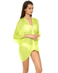 Love Quotes - Green Shiva Cover Up - Lyst