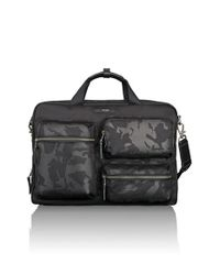 Tumi - Black 'dalston - Tyssen' Double Zip Briefcase for Men - Lyst
