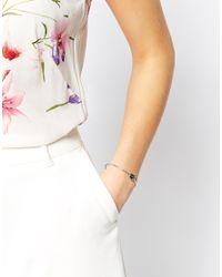 Ted Baker - Metallic Teya Enamel Button Cuff Bracelet - Lyst