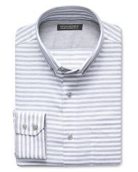 Banana Republic | Gray Tailored Slim-fit Non-iron Striped Oxford for Men | Lyst