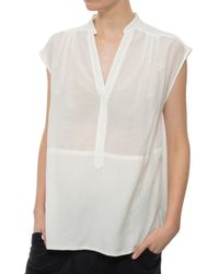 Raquel Allegra | White Sleeveless Henley | Lyst