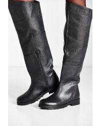 Urban Outfitters | Black Sally Over-the-knee Boot | Lyst