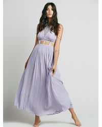 Free People - Gray Jen's Pirate Booty Womens La Cruz Maxi Dress - Lyst