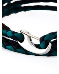 Paul Smith | Blue Braided Wrap Bracelet for Men | Lyst