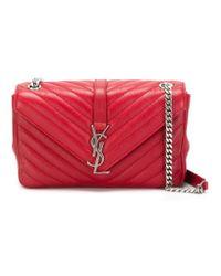 Saint Laurent - Red 'monogram' Shoulder Bag - Lyst