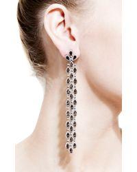 Bochic - Metallic Diamond and Smokey Topaz Long Cascade Earrings - Lyst