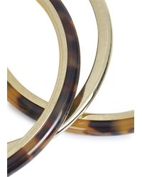 Michael Kors - Metallic Gold Tone Stacking Bangles - Lyst