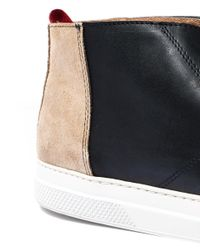 Oliver Spencer - Beige And Black Beat Chukka Boots for Men - Lyst