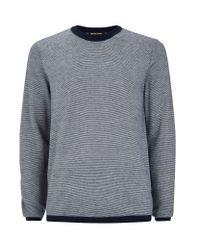 Michael Kors   Blue Fine Stripe Sweater for Men   Lyst