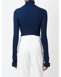 Jacquemus - Blue Cropped Sweater - Lyst