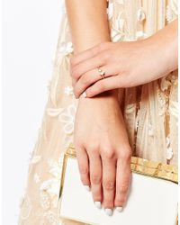 Stella & Bow | Metallic Curacao Adjustable Ring | Lyst