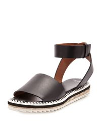 Givenchy - Black Ankle-Wrap Leather Espadrilles  - Lyst