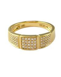 Effy | Metallic D Oro 14kt Yellow Gold And Diamond Band Ring | Lyst