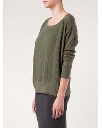 Raquel Allegra - Green Gauze Front Sweatshirt - Lyst