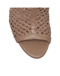 Vince Camuto | Brown Emilia High Heel Peep Toe Shoe Boots | Lyst