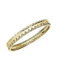 House of Harlow 1960 | Metallic Outland Goldtone Bangle Bracelet | Lyst