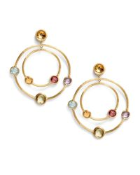 Marco Bicego | Metallic Multi Gemstone 18k Yellow Gold Double Circle Earrings | Lyst